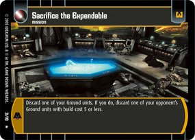 #31 Sacrifice the Expendable Star Wars TCG (ROTS rare)