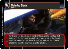 #33 Spinning Slash Star Wars TCG (ROTS rare)