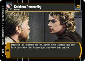 #35 Stubborn Personality Star Wars TCG (ROTS rare)