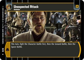 #38 Unexpected Attack Star Wars TCG (ROTS rare)