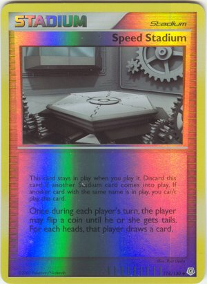 114 Speed Stadium (U) REVERSE FOIL Diamond and Pearl Pokemon TCG