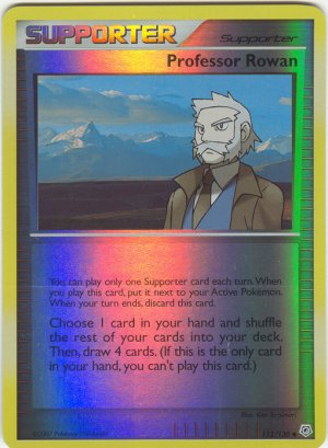 112 Professor Rowan (U) REVERSE FOIL Diamond and Pearl Pokemon TCG