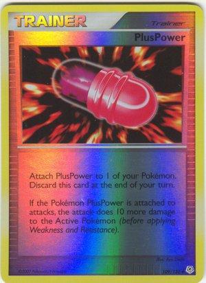 109 Plus Power (U) REVERSE FOIL Diamond and Pearl Pokemon TCG