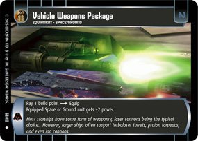 #69 Vehicle Weapons Package (ROTS uncommon)