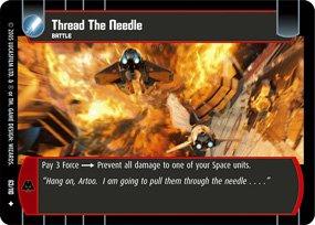 #63 Thread the Needle Star Wars TCG (ROTS uncommon)