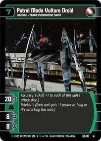 #60 patrol Mode Vulture Droid (ROTS uncommon)