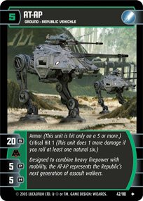 #42 AT-AP Star Wars TCG (ROTS uncommon)