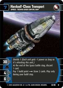 #52 Hardcell-Class Transport Star Wars TCG (ROTS uncommon)