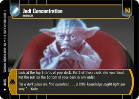 #53 Jedi Concentration Star Wars TCG (ROTS uncommon)