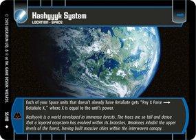 #55 Kashyyyk System Star Wars TCG (ROTS uncommon)