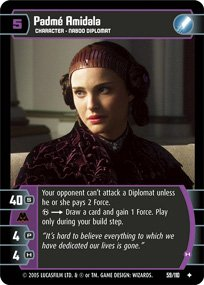 #59 Padme Amidala (H) Star Wars TCG (ROTS uncommon)
