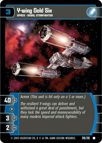 #210 Y-Wing Gold Six (ESB common)