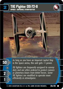 #204 TIE Fighter OS-72-8 Star Wars TCG (ESB common)
