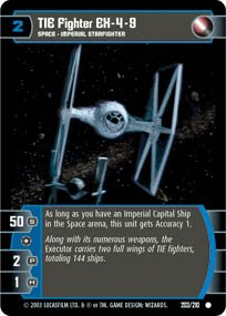 #203 TIE Fighter EX-4-9 Star Wars TCG (ESB common)