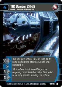 #202 TIE Bomber EX-1-8 Star Wars TCG (ESB common)