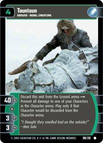 #199 Tauntaun Star Wars TCG (ESB common)