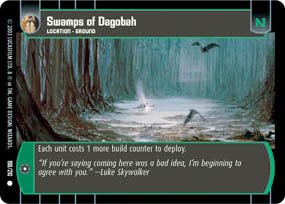 #198 Swamps of Dagobah Star Wars TCG (ESB common)