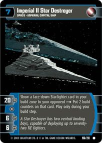 #196 Imperial II Star Destroyer Star Wars TCG (ESB common)