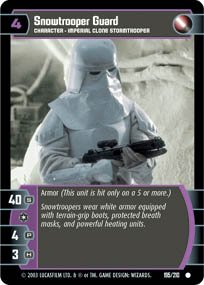 #195 Snowtrooper Guard Star Wars TCG (ESB common)