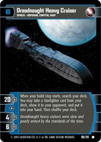 #190 Dreadnaught Heavy Cruiser Star Wars TCG (ESB common)
