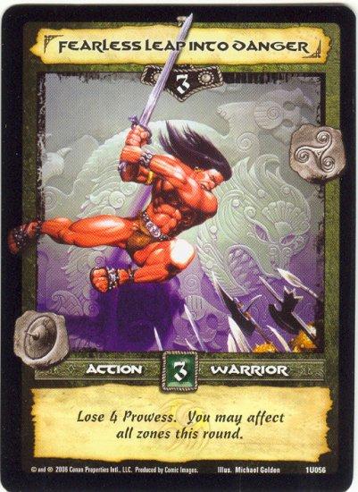Fearless Leap into Danger (U) Conan CCG