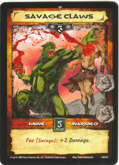 Savage Claws (U) Conan CCG