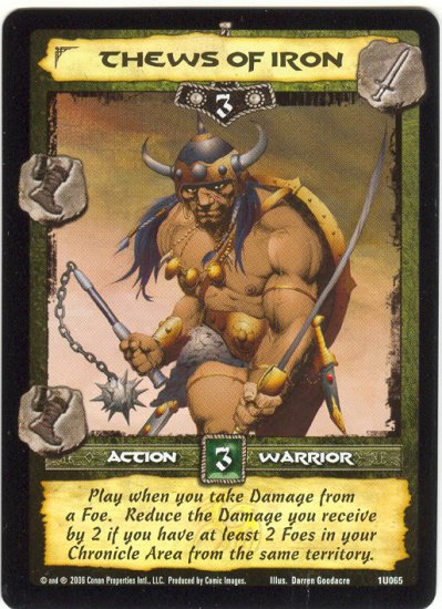Thews of Iron (U) Conan Collectible Card Game