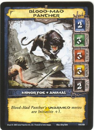 Blood-Mad Panther (VC) Conan CCG