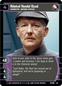#73 Admiral Kendal Ozzel (A) (ESB uncommon) Star Wars TCG