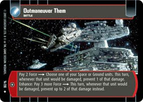 #74 Outmanuever Them (ESB uncommon) Star Wars TCG