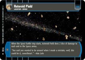 #77 Asteroid Field (ESB uncommon) Star Wars TCG