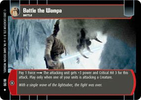 #80 Battle the Wampa (ESB uncommon) Star Wars TCG