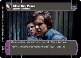 #82 Cloud City Prison (ESB uncommon) Star Wars TCG