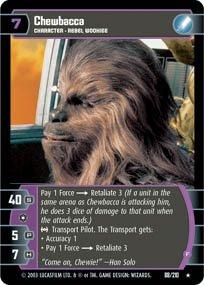 #88 Chewbacca (F) (ESB rare) Star Wars TCG