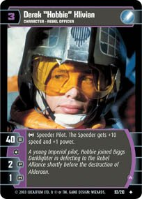 #92 Derek Hobbie Klivian (A) (ESB uncommon) Star Wars TCG