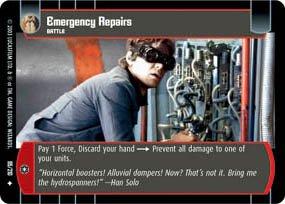 #95 Emergency Repairs (ESB uncommon) Star Wars TCG