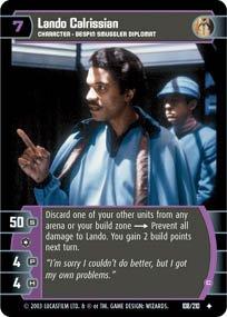 #108 Lando Calrissian (C) Star Wars TCG (ESB uncommon)