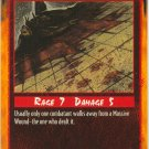 Massive Wound Combat R Rage CCG Limited Edition