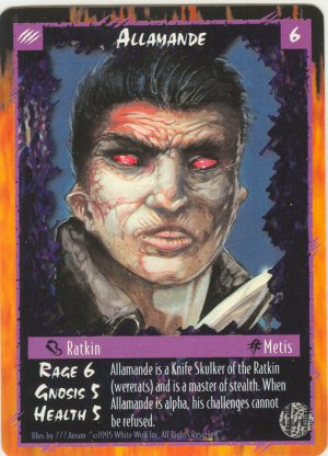 Allamande Character R Rage CCG Limited Edition