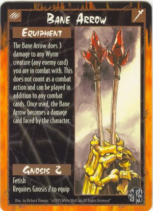 Bane Arrow Equipment U Rage CCG Limited Edition