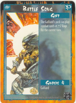 Battle Song Gift C Rage CCG Limited Edition