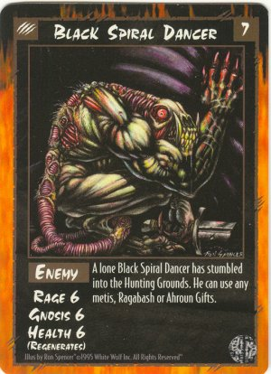 Black Spiral Dancer Enemy U Rage CCG Limited Edition