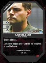 Article 23 BSG-059 (C) Battlestar Galactica CCG