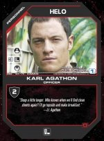 Helo, Karl Agathon BSG-123 (C) Battlestar Galactica CCG