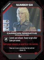 Number Six, Caprican Operative BSG-131 (C) Battlestar Galactica CCG