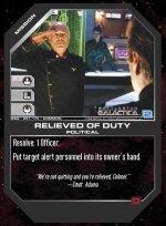 Relieved of Duty BSG-091 (C) Battlestar Galactica CCG