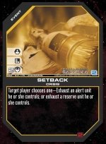 Setback BSG-041 (U) Battlestar Galactica CCG
