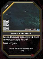 Sneak Attack BSG-043 (U) Battlestar Galactica CCG