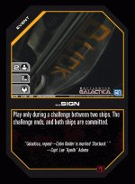 ...Sign BTR-042 (U) Battlestar Galactica CCG