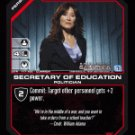 Laura Roslin, Secretary of Education BTR-117 (C) Battlestar Galactica CCG